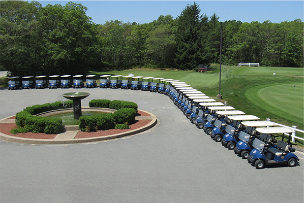 Sandwich Hollows Golf Club Golf Carts Lined Up