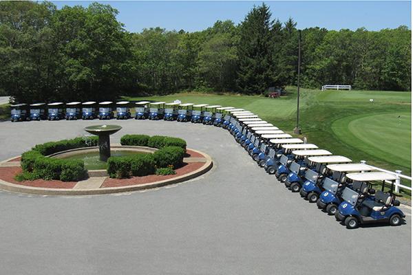 Sandwich Hollows Golf Club Golf Carts Lined Up