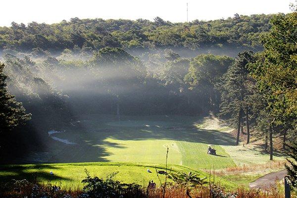 Sandwich Hollows Golf Club Tees and Fairway with a slight fog