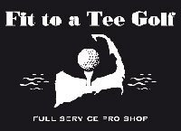 Logo for Fit to a tee golf, who is a proud sponsor of the 2019 Veteran's Top Shot Invitational on Cape Cod.