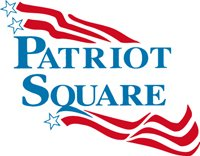 Logo for Patriot Square, who is a proud sponsor of the 2019 Veteran's Top Shot Invitational on Cape Cod.